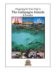 Preparing for your trip to the Galápagos Islands - Northwest Voyageurs