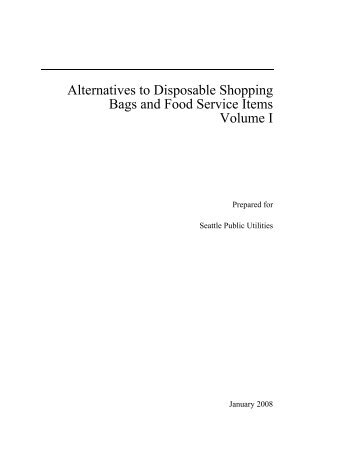 Alternatives to Disposable Shopping Bag and Food - City of Toronto
