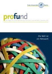 Die Welt ist ein Netzwerk - Freie Universität Berlin