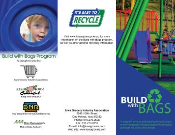 Build with Bags Program Brochure - Iowa Grocery Industry Association