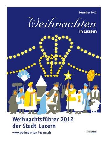 Anzeiger Luzern, Ausgabe WB, 28. November 2012