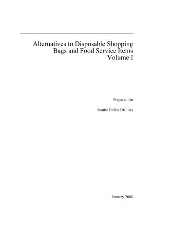 Alternatives to Disposable Shopping Bags and ... - Seattle Bag Tax
