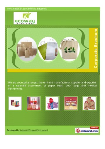 Ecoway Industries, Karad - Supplier & Manufacturer of Paper Bags ...