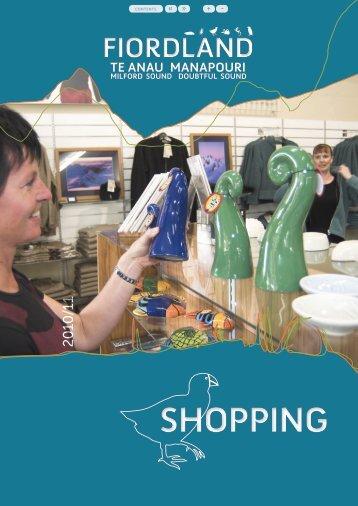 Fiordland Shopping (0.6 MB) - Southern Lakes