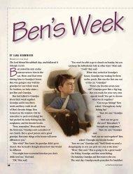 Ben's Week - The Church of Jesus Christ of Latter-day Saints
