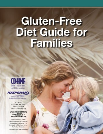Gluten-Free Diet Guide for Families - North American Society for ...