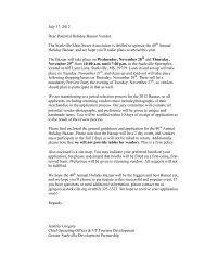 July 17, 2012 Dear Potential Holiday Bazaar Vendor - Greater ...