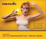 Advertising Rate Card + Editorial Calendar - Shopping Center Weekly