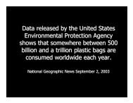 The Dangers of Plastic Bags