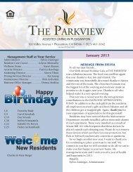 View our Newsletter - Eskaton