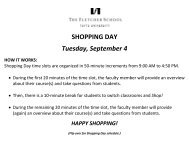 SHOPPING DAY Tuesday, September 4