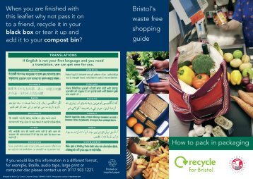 Shopping guide - Bristol City Council