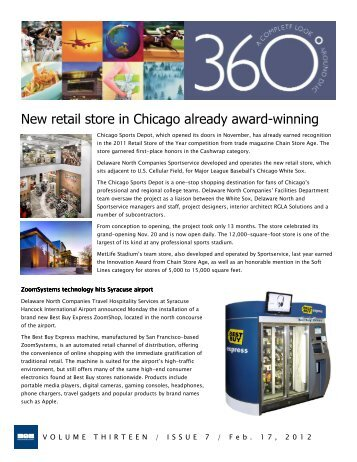 New retail store in Chicago already award-winning - Delaware North