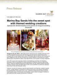 Marina Bay Sands hits the sweet spot with themed wedding creations