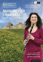 Download the Stafford Season Brochure here - Manchester Camerata