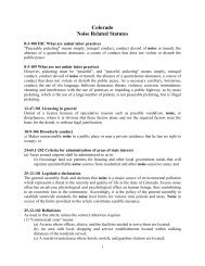 Colorado Noise Related Statutes - Noise Free America