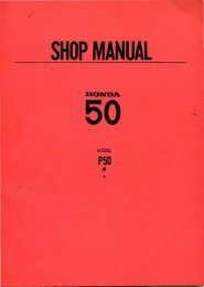 Honda P50 Shop Manual [22 MB] - Project Moped Manual