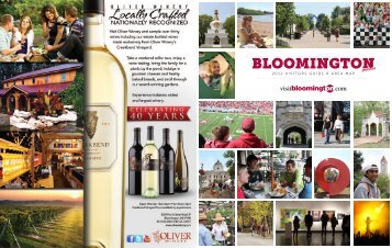 2012 Visitors Guide & area Map - Bloomington Chamber of Commerce