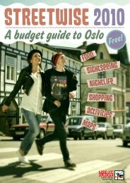 Food Sightseeing nightlife shopping activities maps - Use-It Oslo ...
