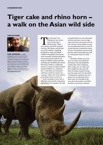 Tiger cake and rhino horn - The East African Wild Life Society