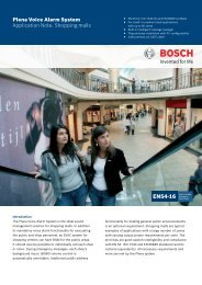 Plena Voice Alarm System Application Note: Shopping malls