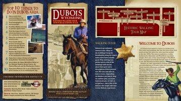 Download our Dubois Walking Tour Brochure - Dubois Wyoming