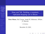 Show and Tell: Building a consistent, replicated shopping cart in ...