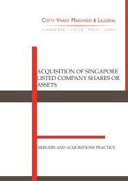 acquisition of singapore listed company shares or assets