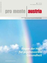 Bogen der Hilfe für psychosoziale Gesundheit - pro mente Burgenland