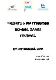 Event Manual - Cheshire & Warrington Sports Partnership