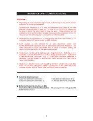Information on Attachment - Nanyang Technological University