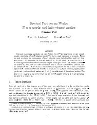 Spectral Partitioning Works - Department of Computer Science ...