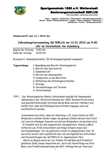 Jahreshauptversammlung - SG Weiterstadt