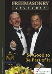So Good to Be Part of It - Freemasons Victoria