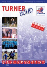 Turner Echo 01 | 2011 - Turnverein 1846 Bretten e.V.