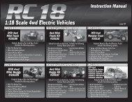 Team Associated RC18B/T/MT/R Manual