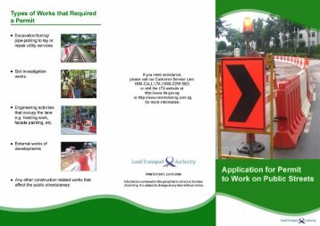 Application for Permit to Work on Public Streets - One.Motoring