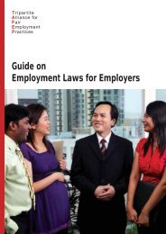 Guide on Employment Laws for Employers - Tripartite Alliance for ...