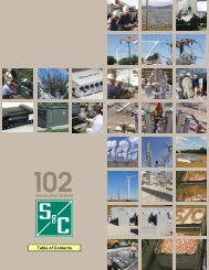 Information Bulletin Table of Contents - S&C Electric Company