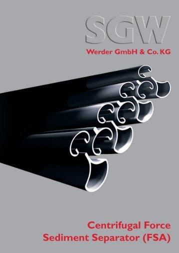 Centrifugal Force Sediment Separator (FSA) - SGW Werder GmbH