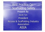 Best Practice On Scaffolding Safety