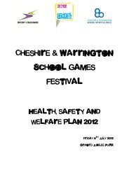 Health, Safety, and Welfare Plan 2012 - Cheshire & Warrington ...