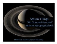 Saturn's Rings: Up Close and Personal with an - (KIAA) at
