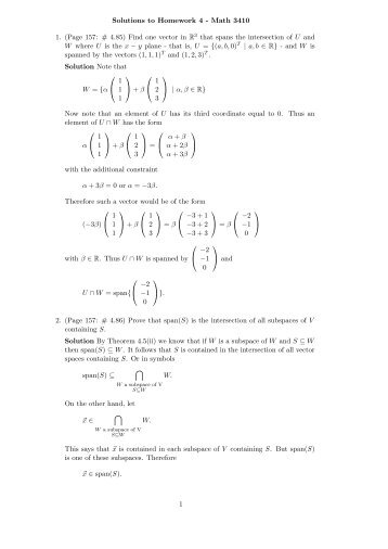 solutions to homework 4