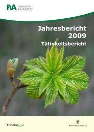 Jahresbericht 2009 Tätigkeitsbericht - Forstliche Versuchs
