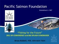 Pacific Salmon Foundation - Sport Fishing Institute of BC