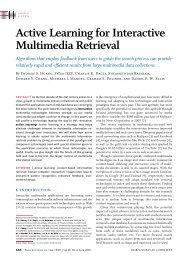 Active Learning for Interactive Multimedia Retrieval - the Department ...