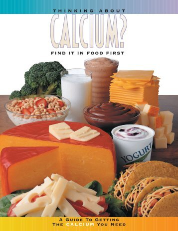 Thinking About Calcium? Find it in Food First