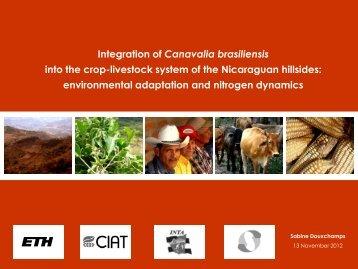 Award ceremony presentation by Dr. Sabine Douxchamps