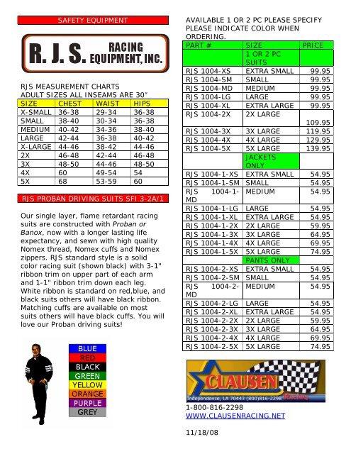 RJS RACING 2 PIECE FIRE SUIT SFI 3.2A//1 JACKET /& PANTS 2 PC GRAY ADULT SFI 1